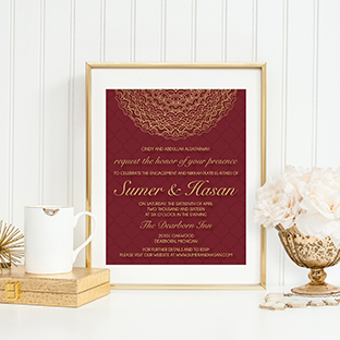 Custom Engagement Party Invitation
