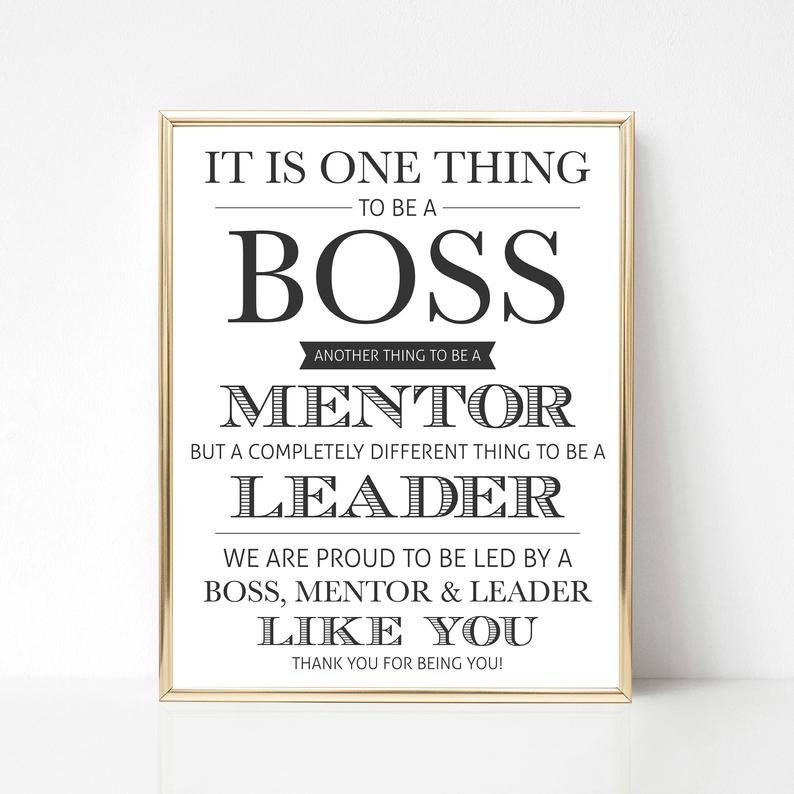 Boss Day Printable Gift