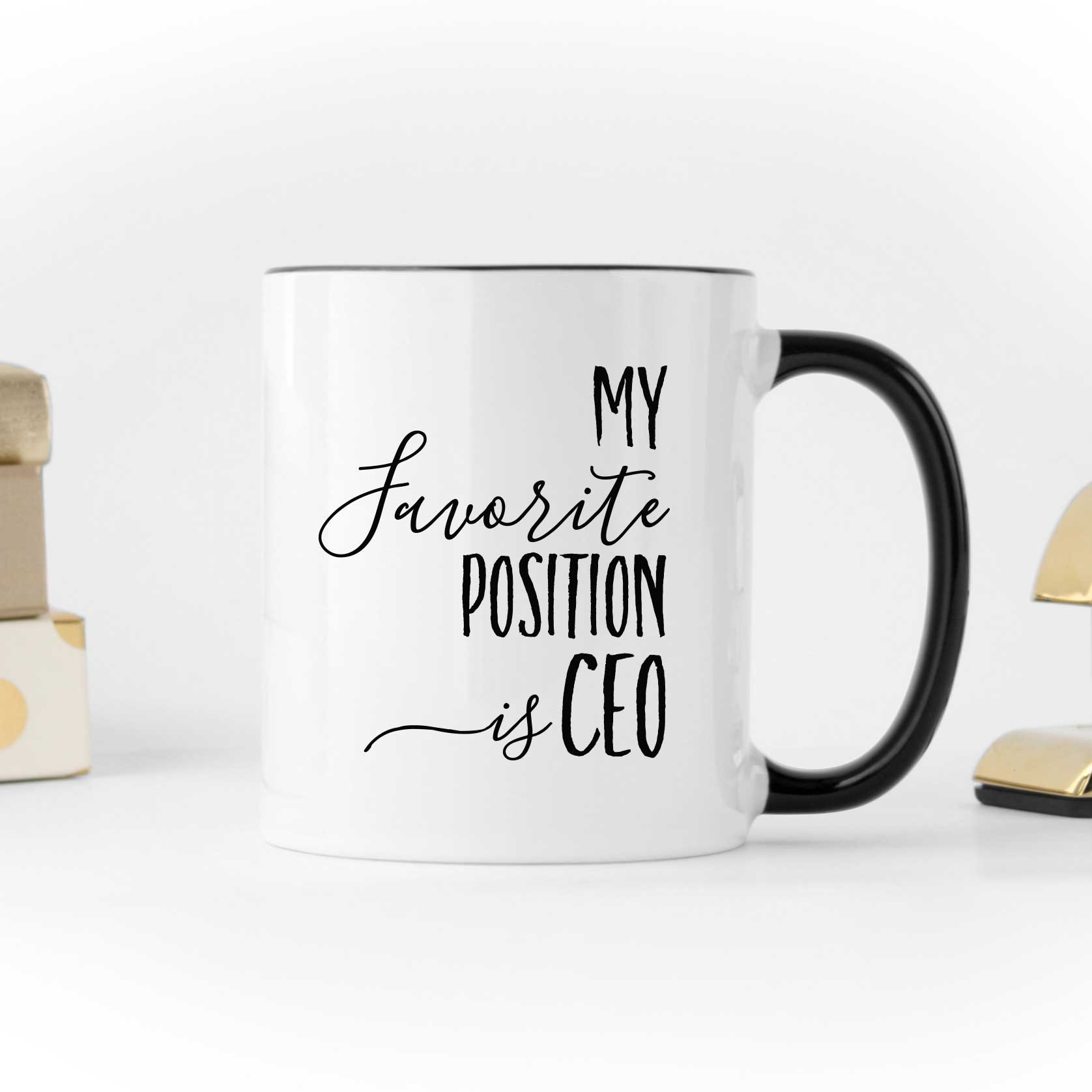 Funny Office Black and White Coffee Mug