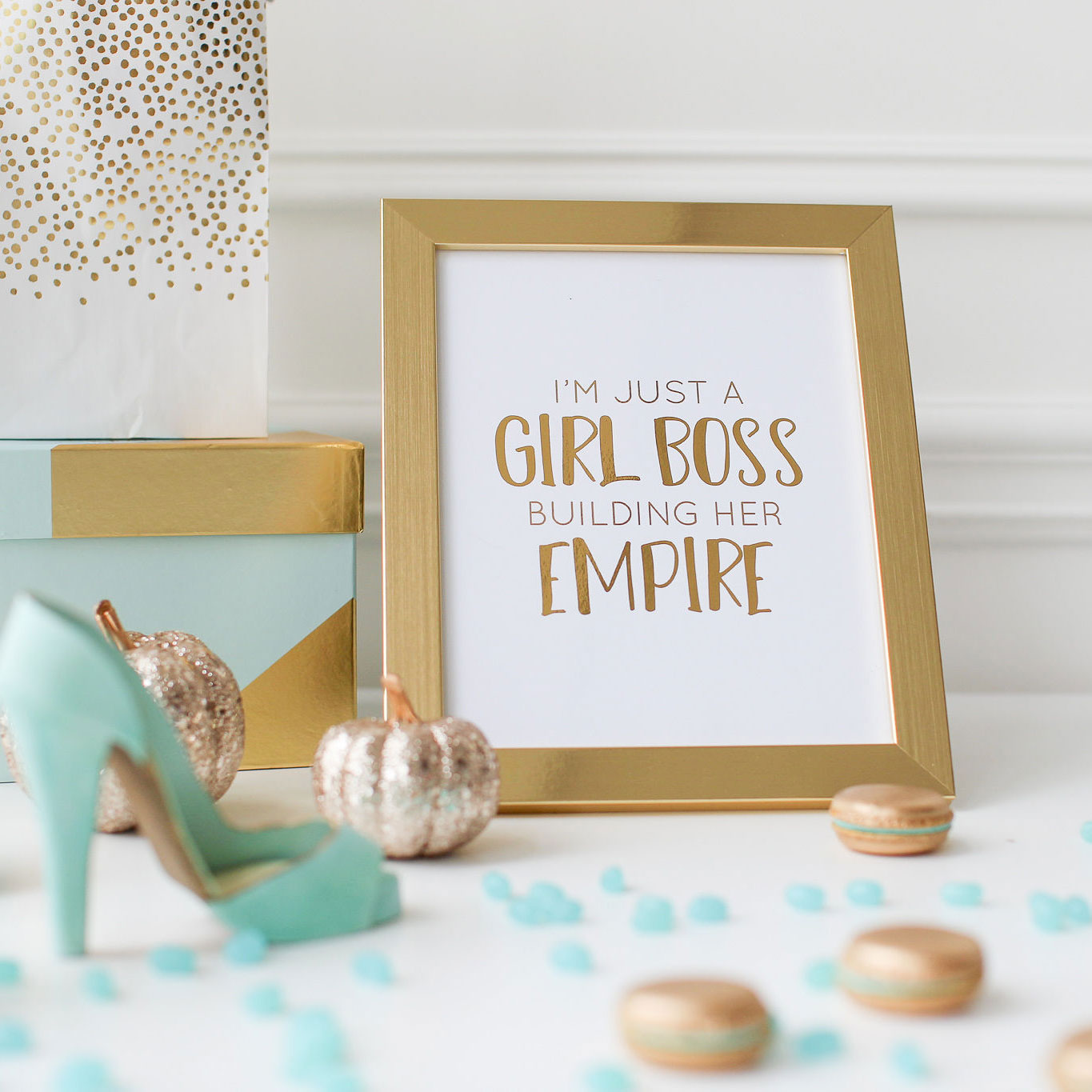 Girl Boss Gold Foil Print
