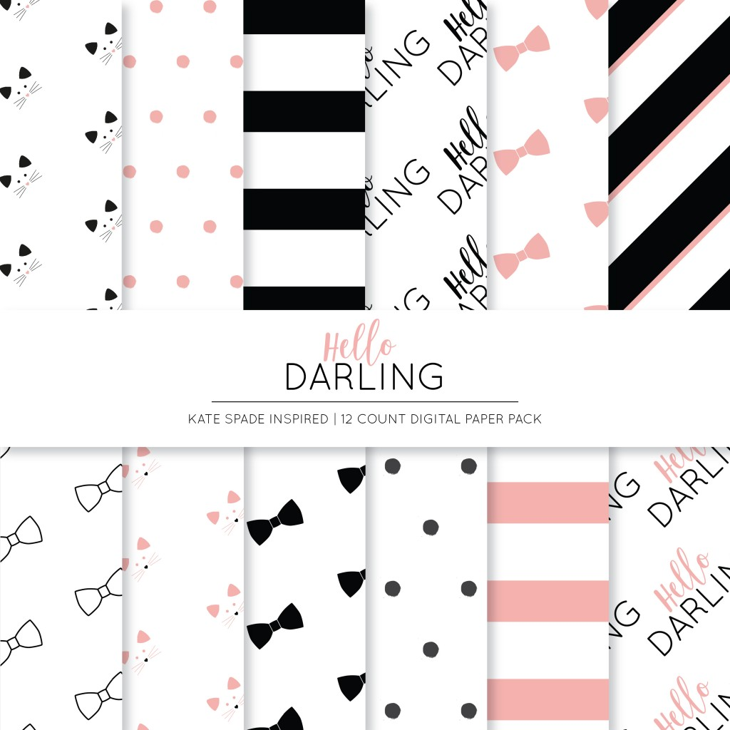 Hello Darling Digital Paper Collection