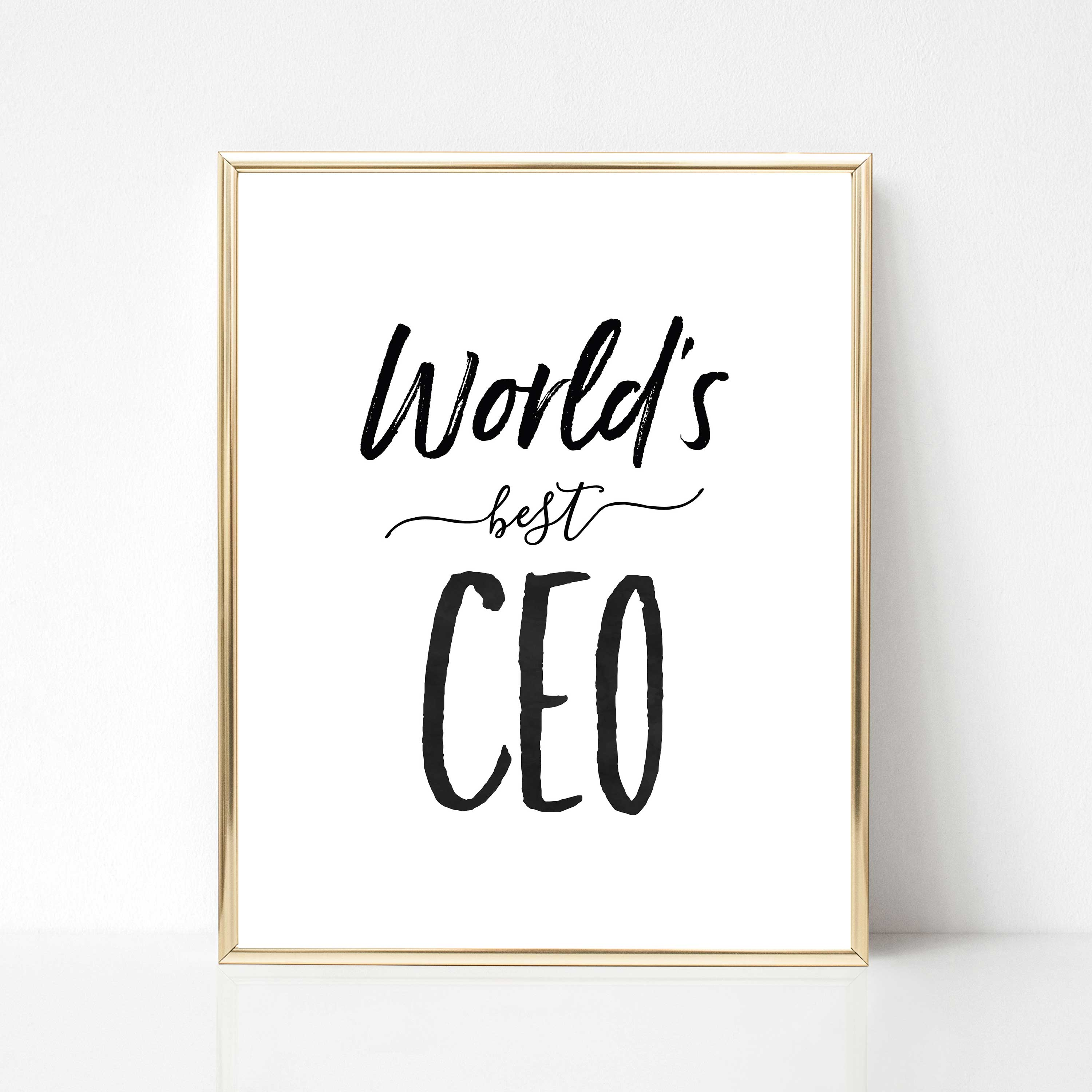 Worlds Best CEO Printable Boss Gift